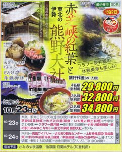 赤芝峡の紅葉と東北の伊勢熊野大社