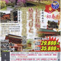 京都城南宮しだれ梅・椿祭りと平安京守護「五社めぐり」の旅