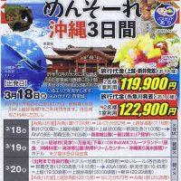 めんそーれ沖縄3日間 首里城応援ツアー