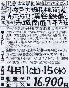 小夜戸・大畑花桃街道 わたらせ渓谷鉄道と赤城南面千本桜