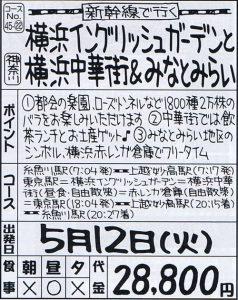 新幹線で行く横浜イングリッシュガーデンと横浜中華街&みなとみらい